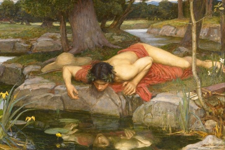John William Waterhouse, Narcissus and Echo, cropped
