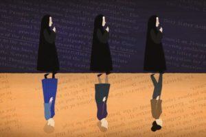 IHM nuns mirrored by women in secular dress