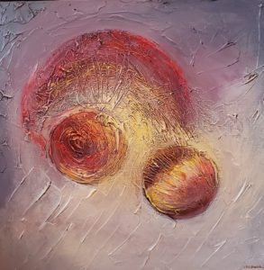 Abstract painting depicting Genesis 2