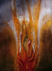 Abstract painting of the Holy Spirit